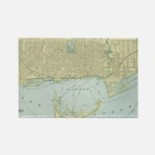 Vintage Map of Toronto (1901) Rectangle Magnet