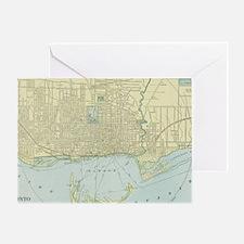 Vintage Map of Toronto (1901) Greeting Card
