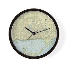 Vintage Map of Toronto (1901) Wall Clock