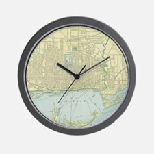 Vintage Map of Toronto (1901) Wall Clock