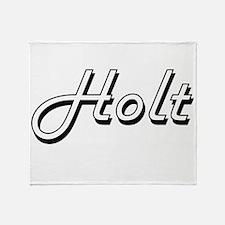 Holt surname classic design Throw Blanket