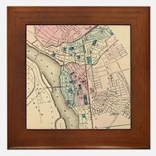 Vintage Map of Trenton NJ (1872) Framed Tile