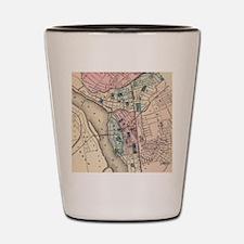 Vintage Map of Trenton NJ (1872) Shot Glass