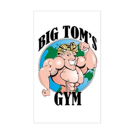 Big Tom's Gym Rectangle Sticker