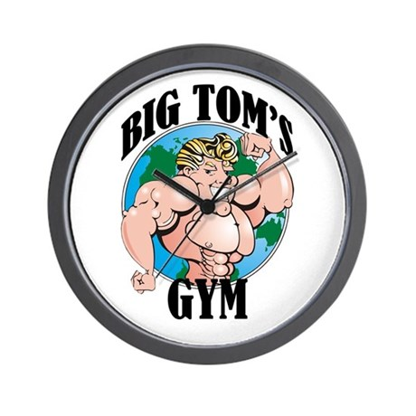 Big Tom's Gym Wall Clock