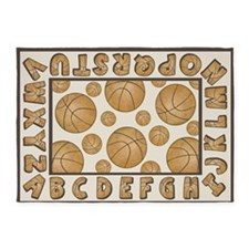 Basketball Alphabet Rug 5'x7'area Rug