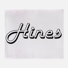 Hines surname classic design Throw Blanket