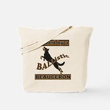 Ballistic Beauceron Portrait Tote Bag