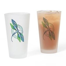 Decorative Dragonfly Drinking Glass