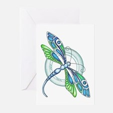 Decorative Dragonfly Greeting Cards