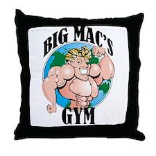 Big Mac's Gym Throw Pillow