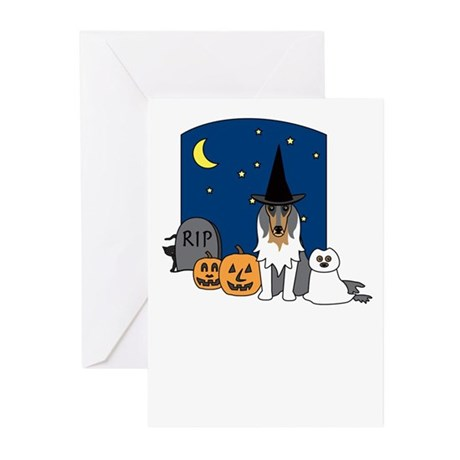 Collie Howling Halloween Greeting Cards (Pk of 20)