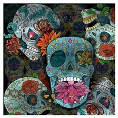 Sugar Skulls Design Poster