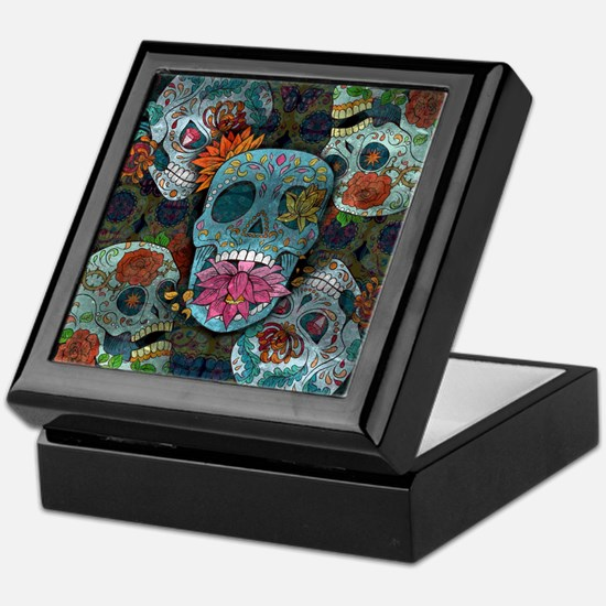 Sugar Skulls Design Keepsake Box