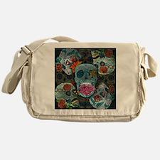 Sugar Skulls Design Messenger Bag