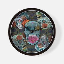 Sugar Skulls Design Wall Clock