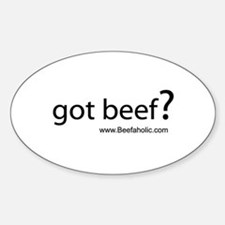 Beefaholic Oval Bumper Stickers