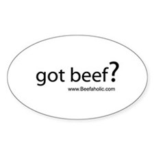 Beefaholic Oval Decal