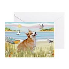 Rowboat & Corgi (Pem) Greeting Card