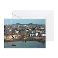 Mystic River's Tobin Bridge Greeting Card