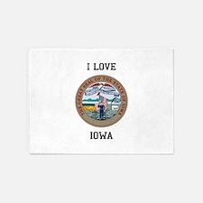Iowa State Seal 5'x7'Area Rug