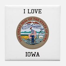 Iowa State Seal Tile Coaster