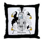 Weekes Family Crest Throw Pillow