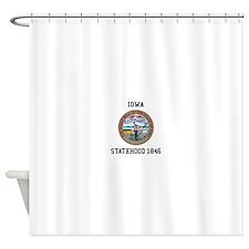 Iowa State Seal Shower Curtain