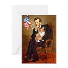 Lincoln & His Welsh Corgi Greeting Card
