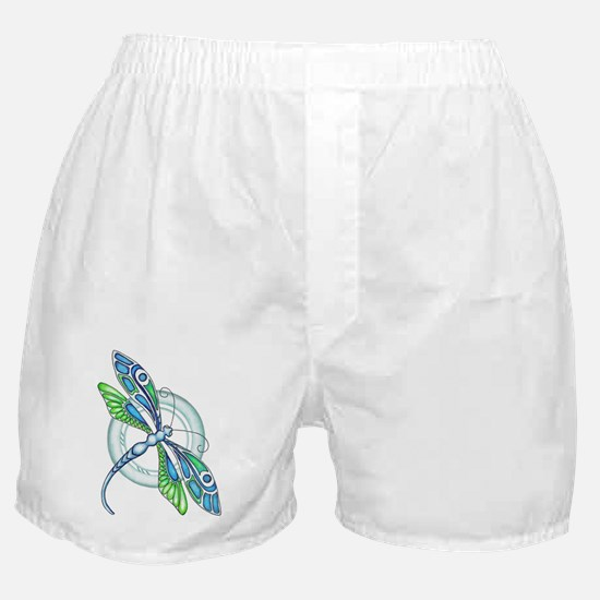 Decorative Dragonfly Boxer Shorts