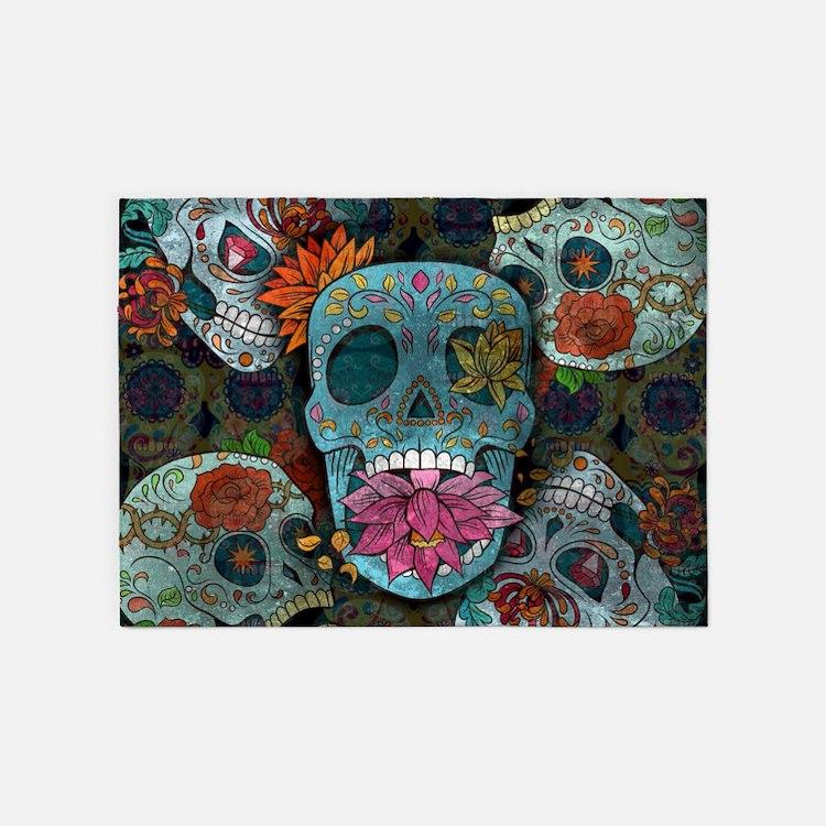 Skull Area Rugs: Sugar Skull Rugs, Sugar Skull Area Rugs