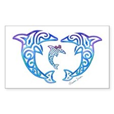 Tribal Dolphin Famiy Decal
