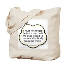 body in the trunk Tote Bag