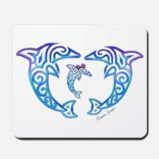 Tribal Dolphin Famiy Mousepad