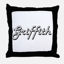 Griffith surname classic design Throw Pillow