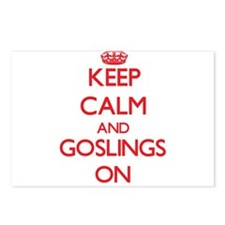Keep Calm and Goslings ON Postcards (Package of 8)