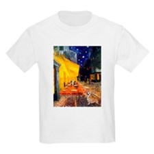 Terrace Cafe + Welsh Corgi T-Shirt