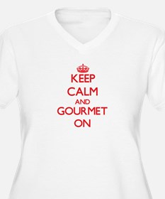 Keep Calm and Gourmet ON Plus Size T-Shirt