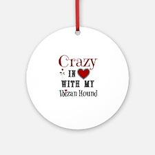 Ibizan Hound Ornament (Round)