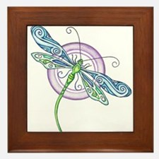 Whimsical Dragonfly Framed Tile