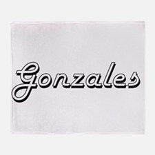 Gonzales surname classic design Throw Blanket