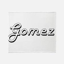 Gomez surname classic design Throw Blanket