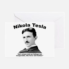Tesla: Virtues Greeting Card