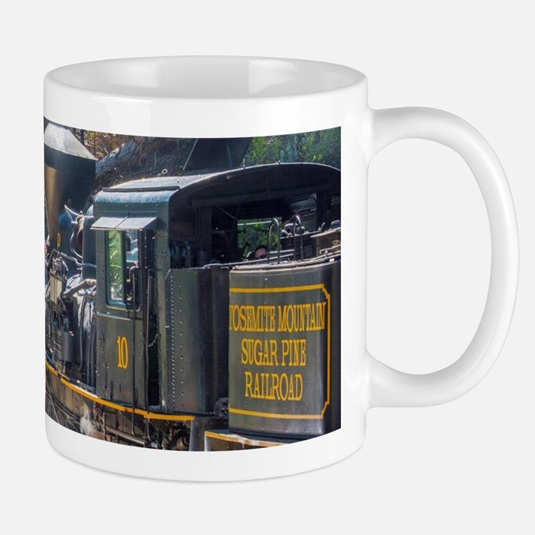 Steam Locomotive in the Forest Mug