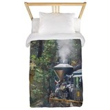 Steam locomotive in the forest yosemite twin Luxe Twin Duvet Cover