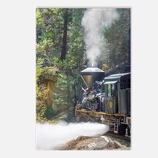 Steam Locomotive in the Postcards (Package of 8)