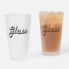 Glass surname classic design Drinking Glass
