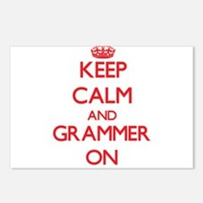 Keep Calm and Grammer ON Postcards (Package of 8)