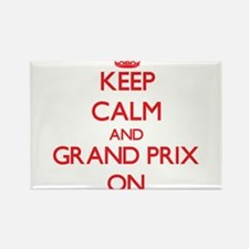 Keep Calm and Grand Prix ON Magnets
