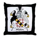 Watton Family Crest Throw Pillow